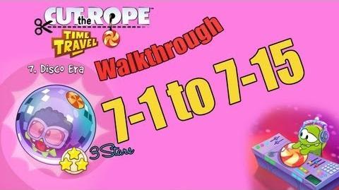 Cut The Rope Time Travel - Disco Era Walkthrough (3 Stars) Levels 7-1 to 7-15-0