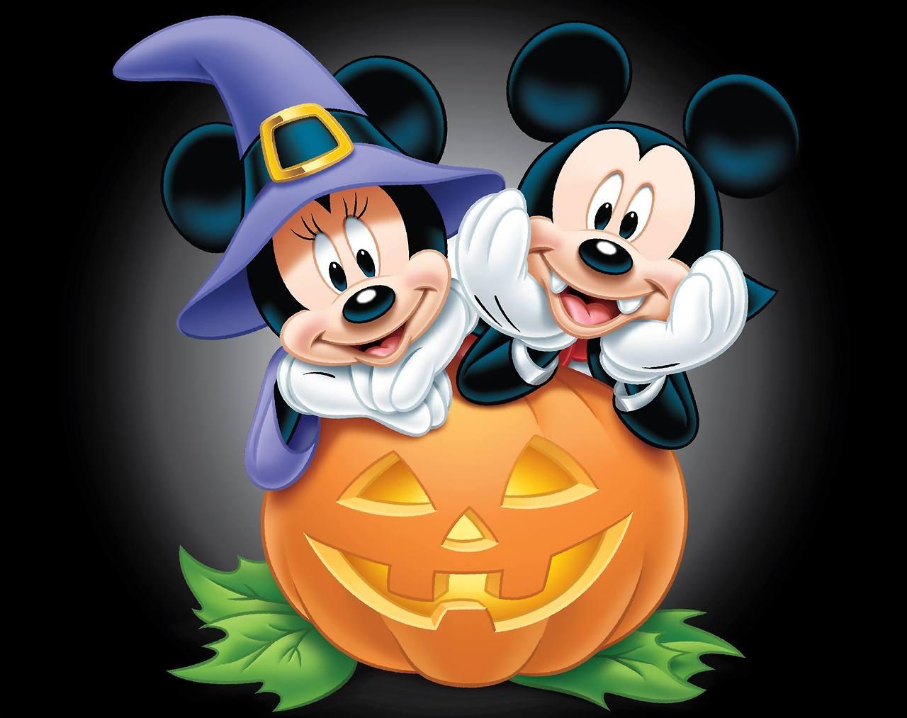 Image mickey and minnie disney wiki - Disney halloween images ...