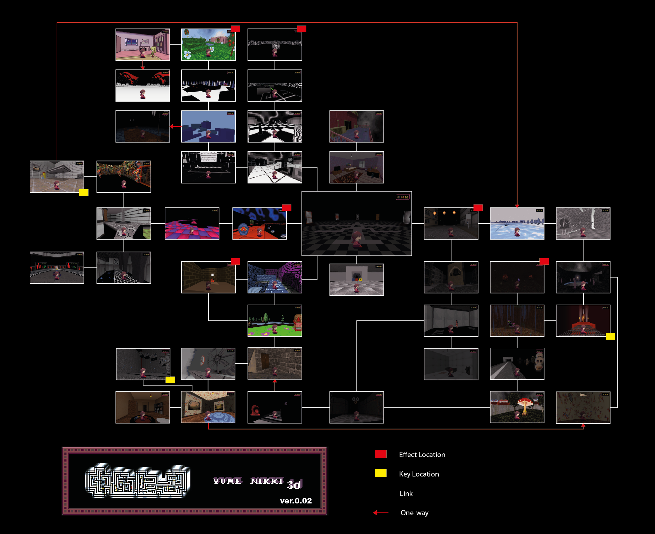 Yume nikki 3d guide yume nikki fangames wiki for 3d walkthrough