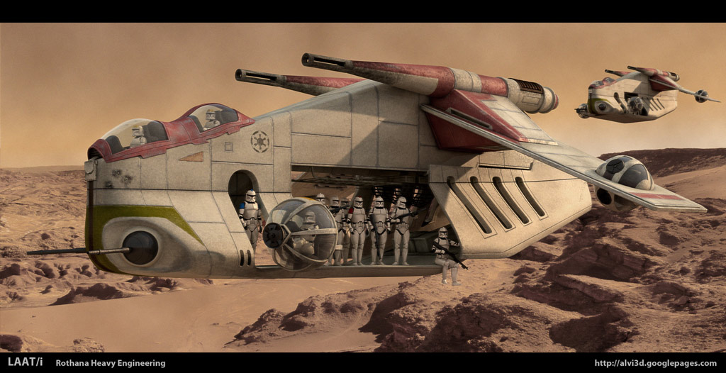 is the laat i republic gunship an inspiration from the
