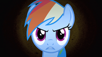 Rainbow Dash's face S4E07