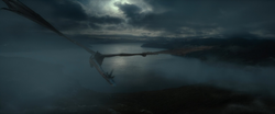 Smaug flies to laketown