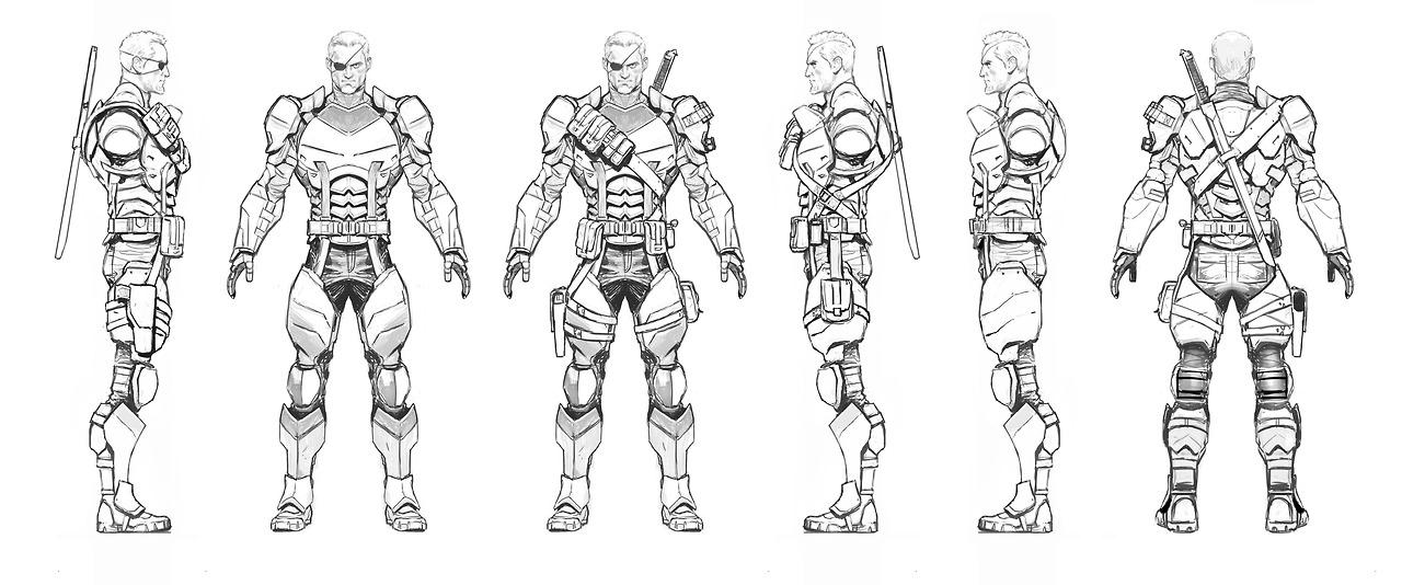 Image arkham origins deathstroke arkham for Deathstroke coloring pages