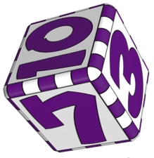 three dice block
