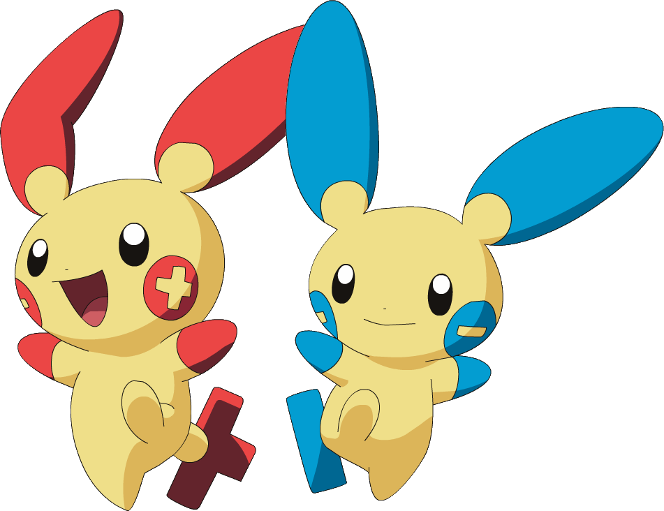 File Plusle and Minun pngPlusle And Minun