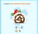 Rocambole de Morango