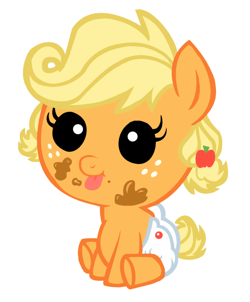 My little pony baby applejack - photo#25