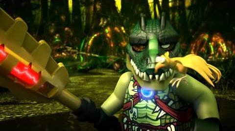 LEGO Chima prezentacja Craggera - przywódcy plemienia Krokodyli