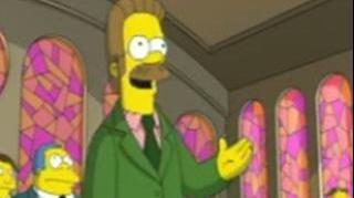 The Simpsons Movie Lovejoy And Flanders In Church