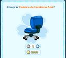 Cadeira de Escritorio Azul