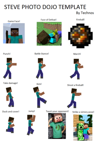Size of this preview  325   215  480 pixels   Other resolution  162   215  240    Steve Minecraft Template