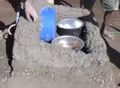Cob Solar Box Cooker, base formation, 2-18-14.jpg