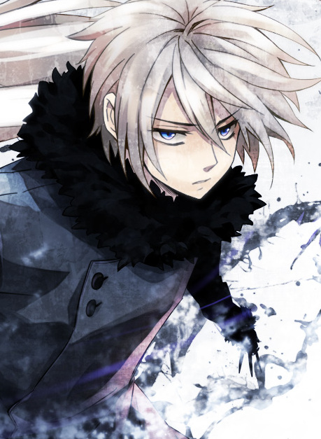 White And Blue Wolf Anime Wolf Boy With White Hair