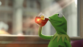 Muppets with anatomically functioning mouths - Muppet WikiKermit Drinking Wine
