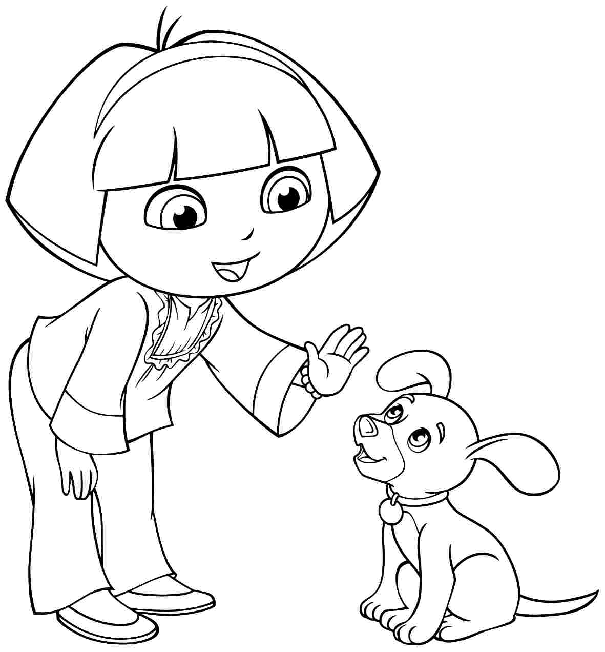 coloring pages dora and friends | Image - Cartoon-dora-the-explorer-and-friends-coloring ...