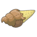 Chocolate Ice Cream Cone Plushie Before 2015 revamp.png
