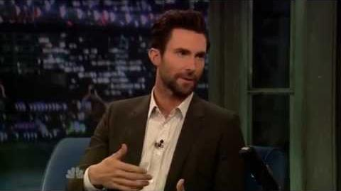 Adam levine on late night with jimmy fallon