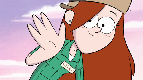500px-S1e5 wendy high five pngGravity Falls Wendy And Mabel Hot