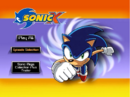 Sonic X Volume 1 AUS main menu.png