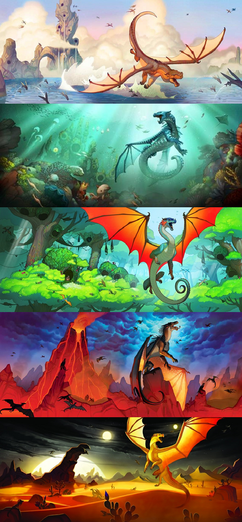 Book Cover Series Wiki : Wings of fire dragon wiki
