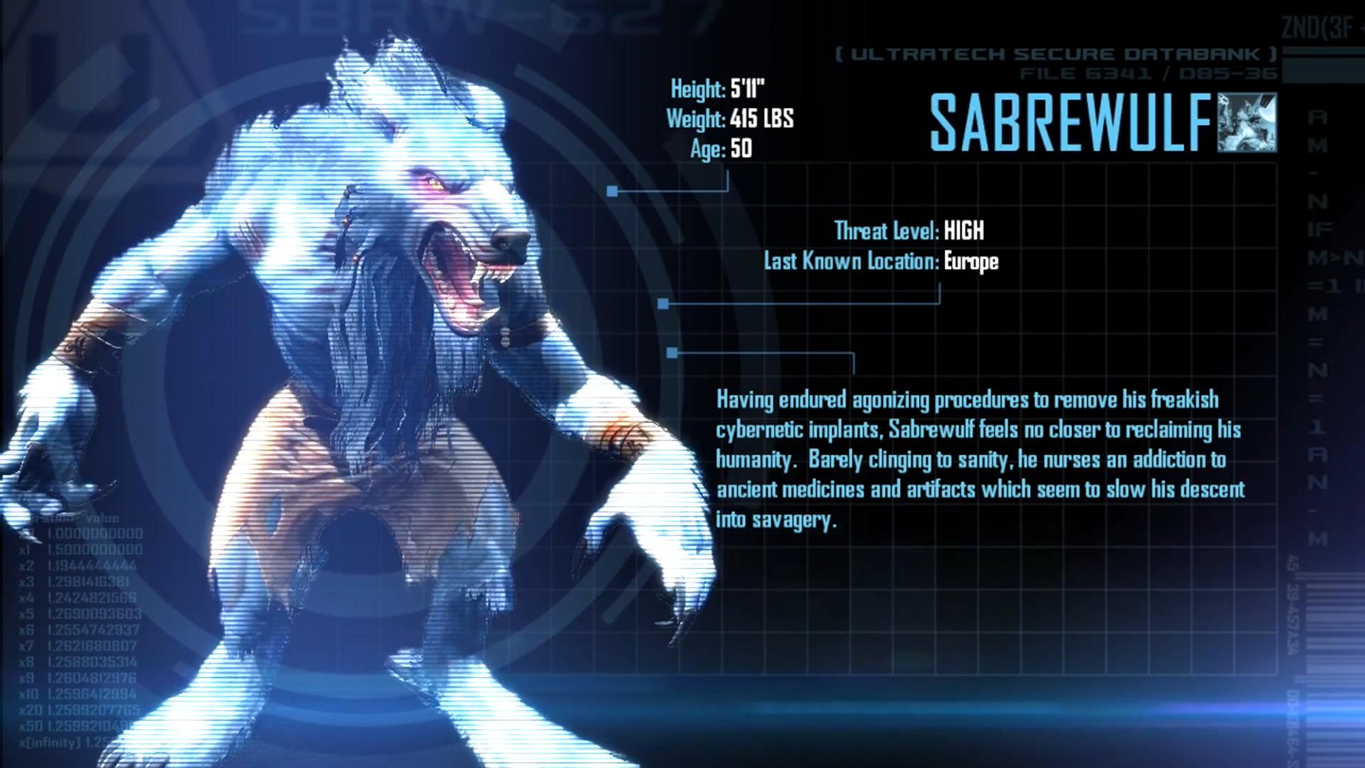 [Image: Sabrewulf_Arcade_Bio.png]