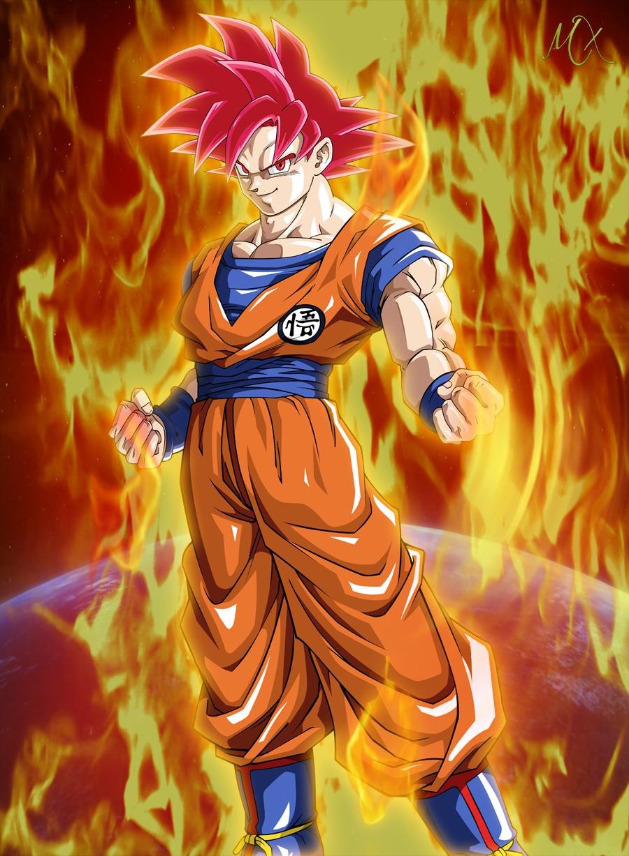 Image goku super saiyan god by maniaxoi - Super saiyan 6 goku pictures ...