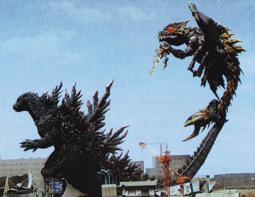 Image - GXM - Godzilla Grabs Megaguirus With His Tail.jpg ...