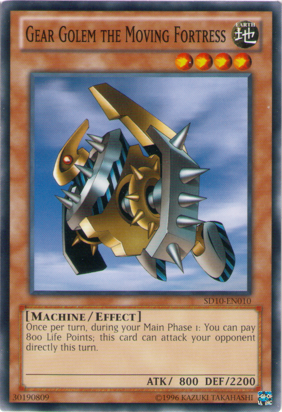 Gear Golem The Moving Fortress Yu Gi Oh It S Time To