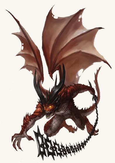 baatezu Cornugon - by Tyler Walpole Jason Bulmahn **//Dungeons & Dragons Pathfinder - Bestiario//**, Paizo Publishing, LLC, Wyrd Edizioni, **2009**