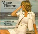 Vogue Patterns June/July 1972