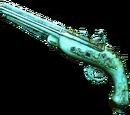 Złote pistolety skałkowe
