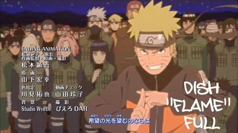 Naruto Shippuden Ending 29 (Official FULL version) HD (With Lyrics) Flame - Dish DOWNLOAD-2