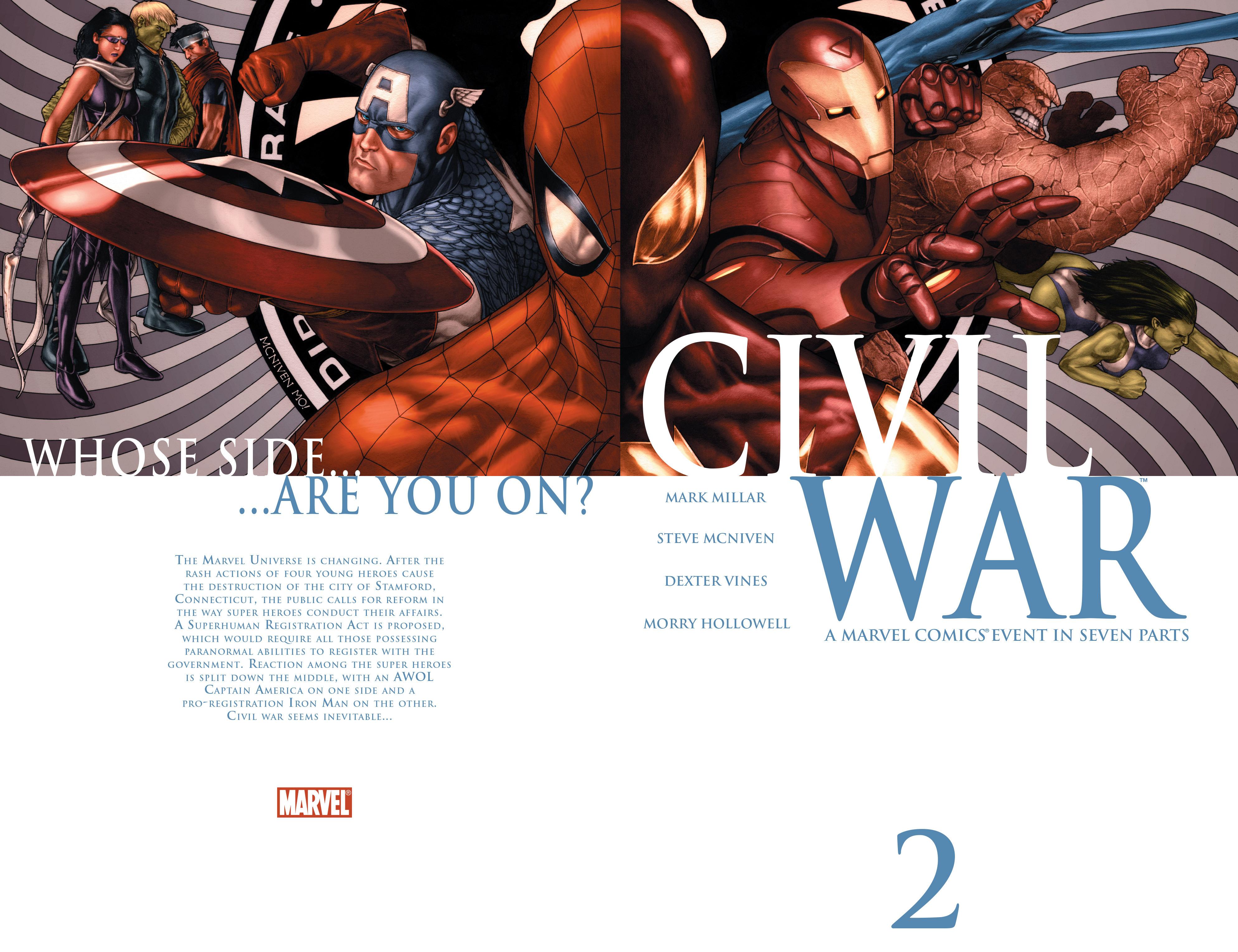 Civil war vol 1 2 wraparound