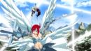 Kagura dodges Erza's attacks.png