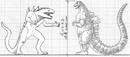 Concept Art - Godzilla Final Wars - Godzilla vs. Zilla.png