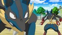 ¡Mega-Lucario VS Mega-Lucario! ¡¡Tormenta aural!! Pokémon XY