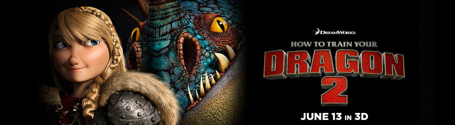 HtTYD2 June 13 banner -- Astrid and Stormfly