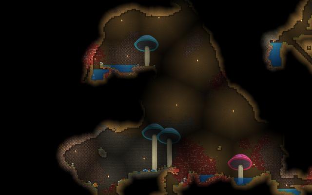 Starbound биом грибных пещер