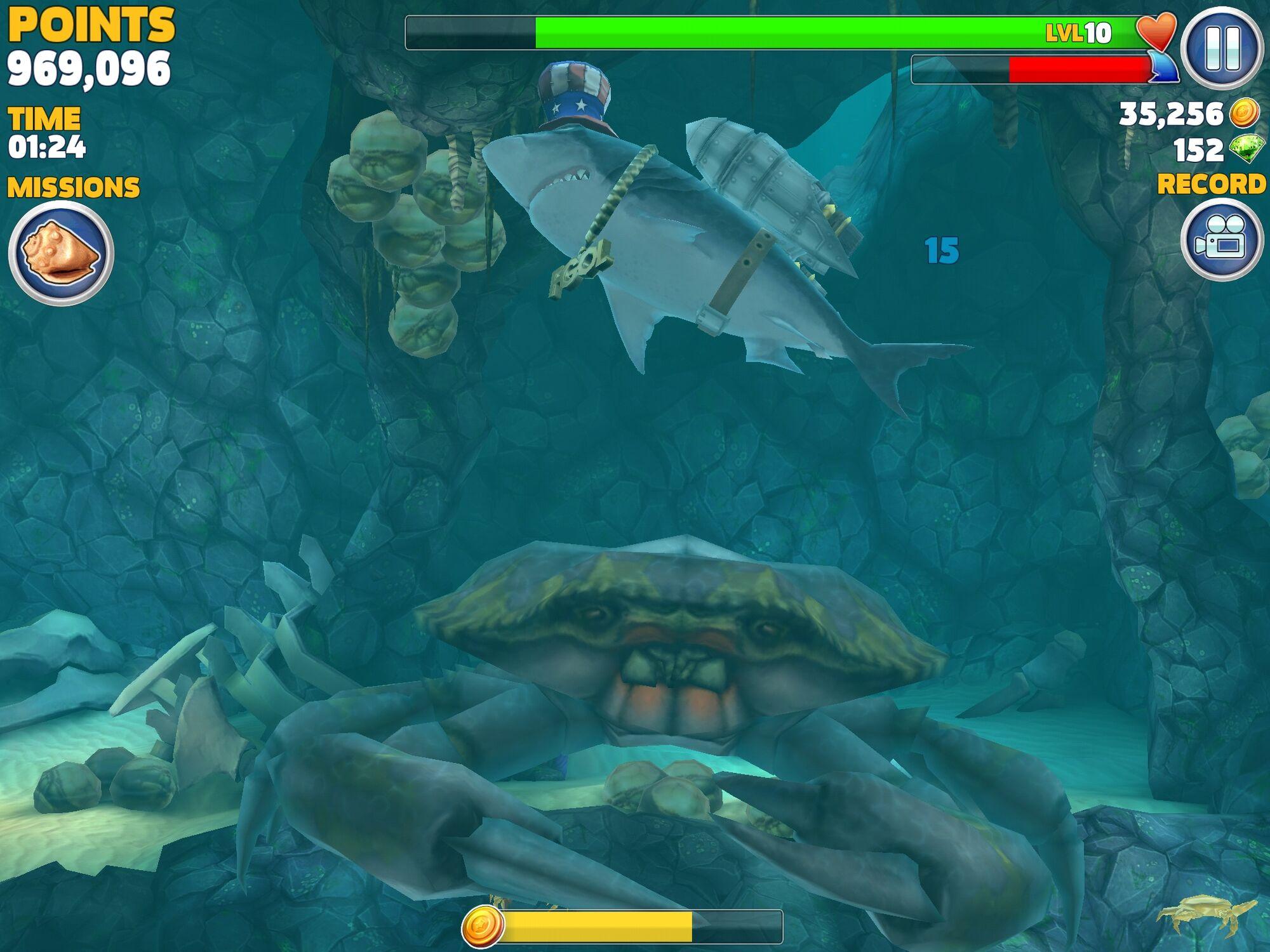 Hungry shark evolution megalodon vs giant crab - photo#43