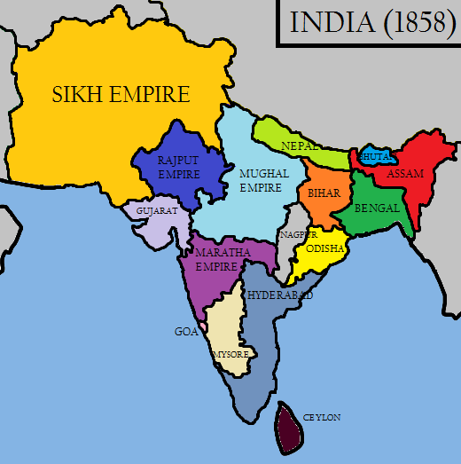[Image: India_in_1858_(Raj_Karega_Khalsa).png]