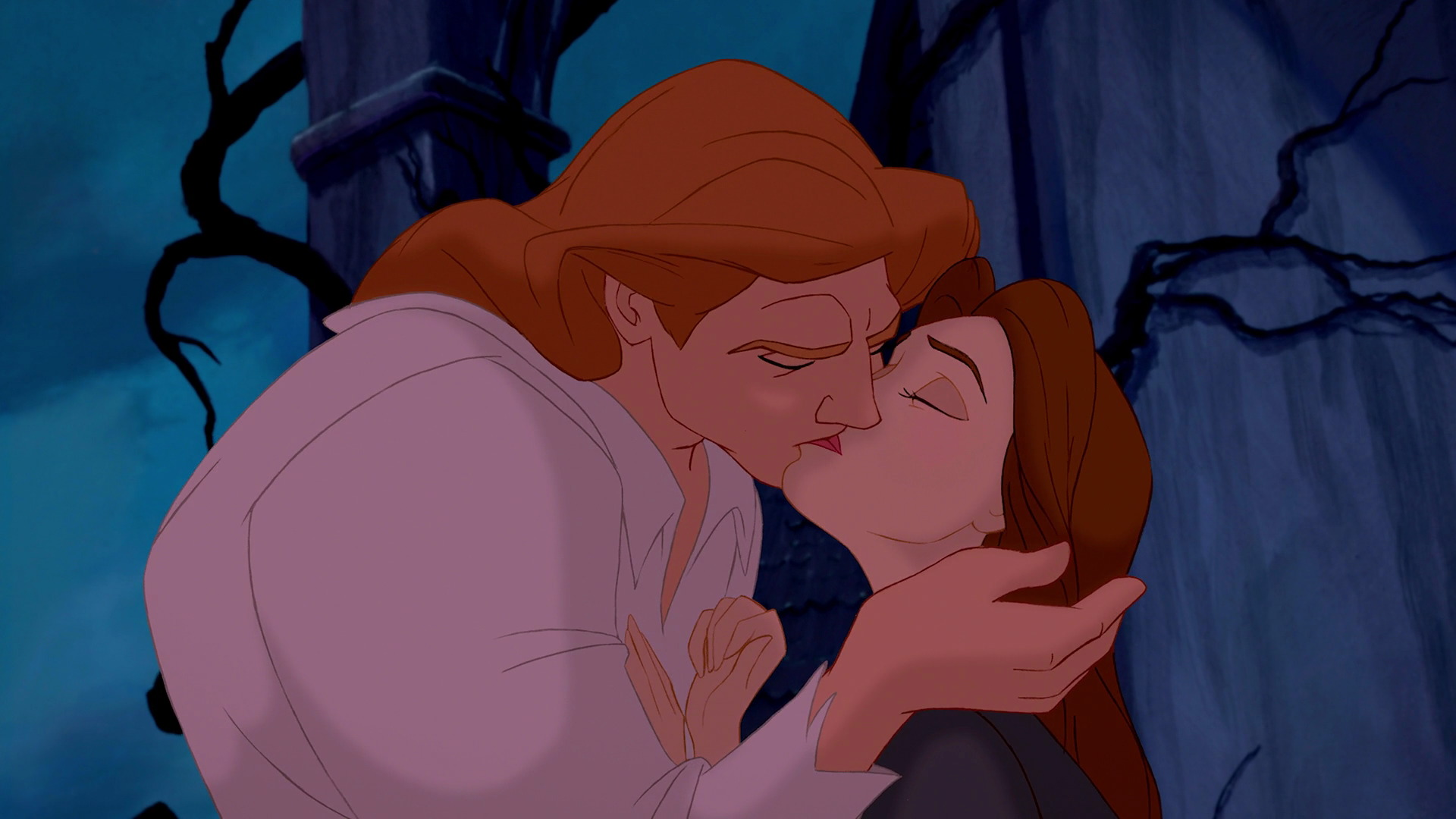 Belle And Prince Adams True Loves First Kiss