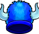 Blue Fuzzy Viking Hat
