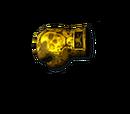 Gloves-Gold Skull
