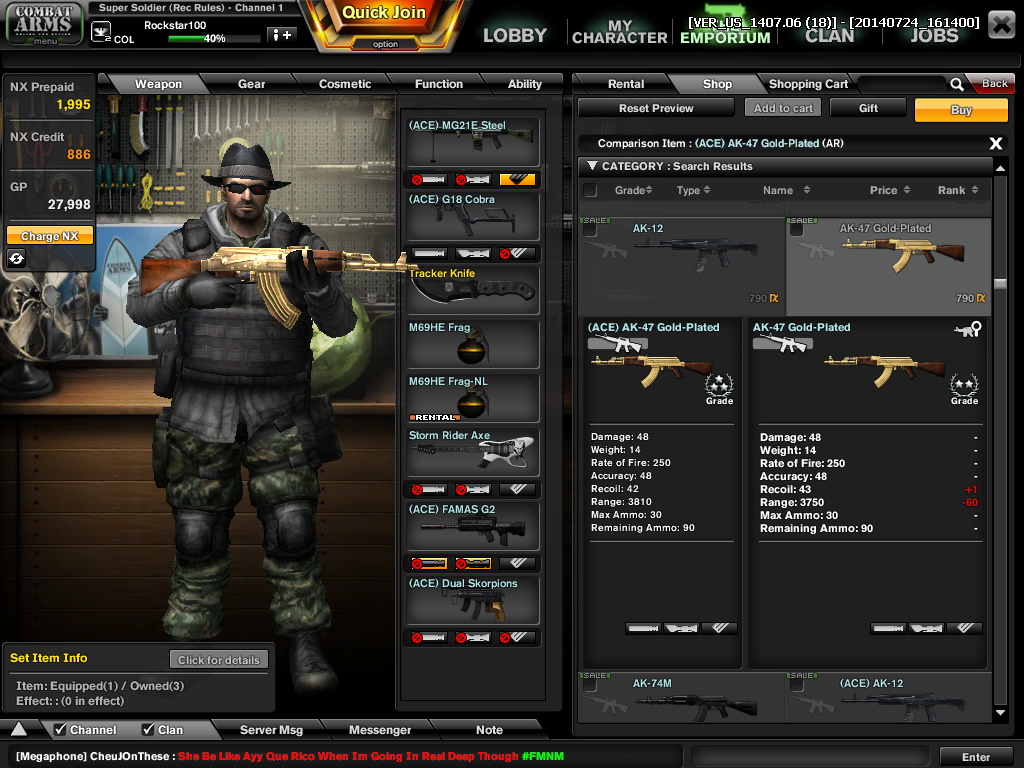 Combat Arms Reboot ACE_Weapon_Compare_Ex.3
