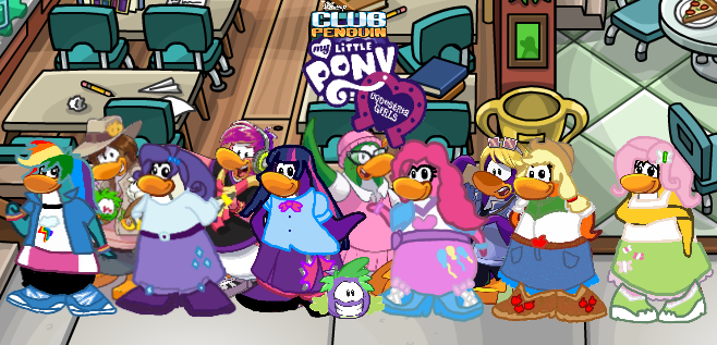 Frozen VS MLP Takeover - Club Penguin Wiki - The free, editable ...