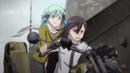 Kirito and Sinon on the buggy.png