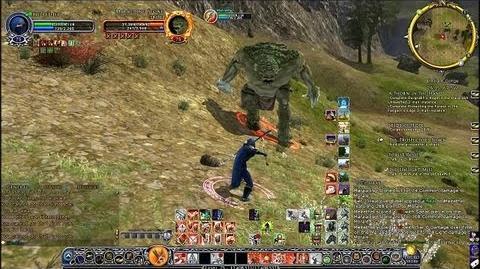 LOTRO Warden Fighting Giant Troll