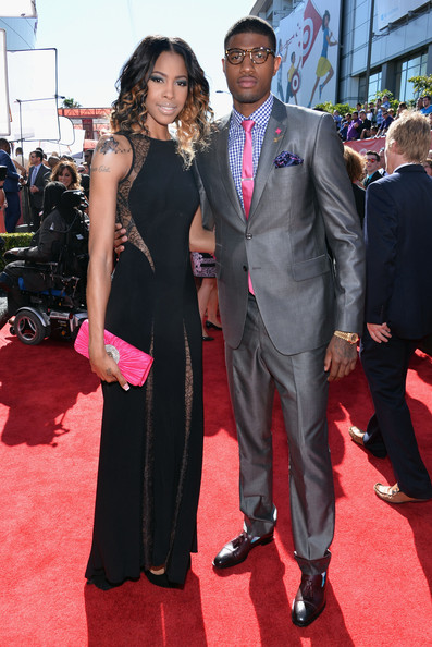 Paul George with Wife Paulette George