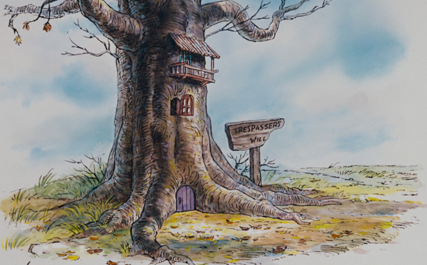 Wood Interior Homes Piglet S House Disney Wiki Wikia