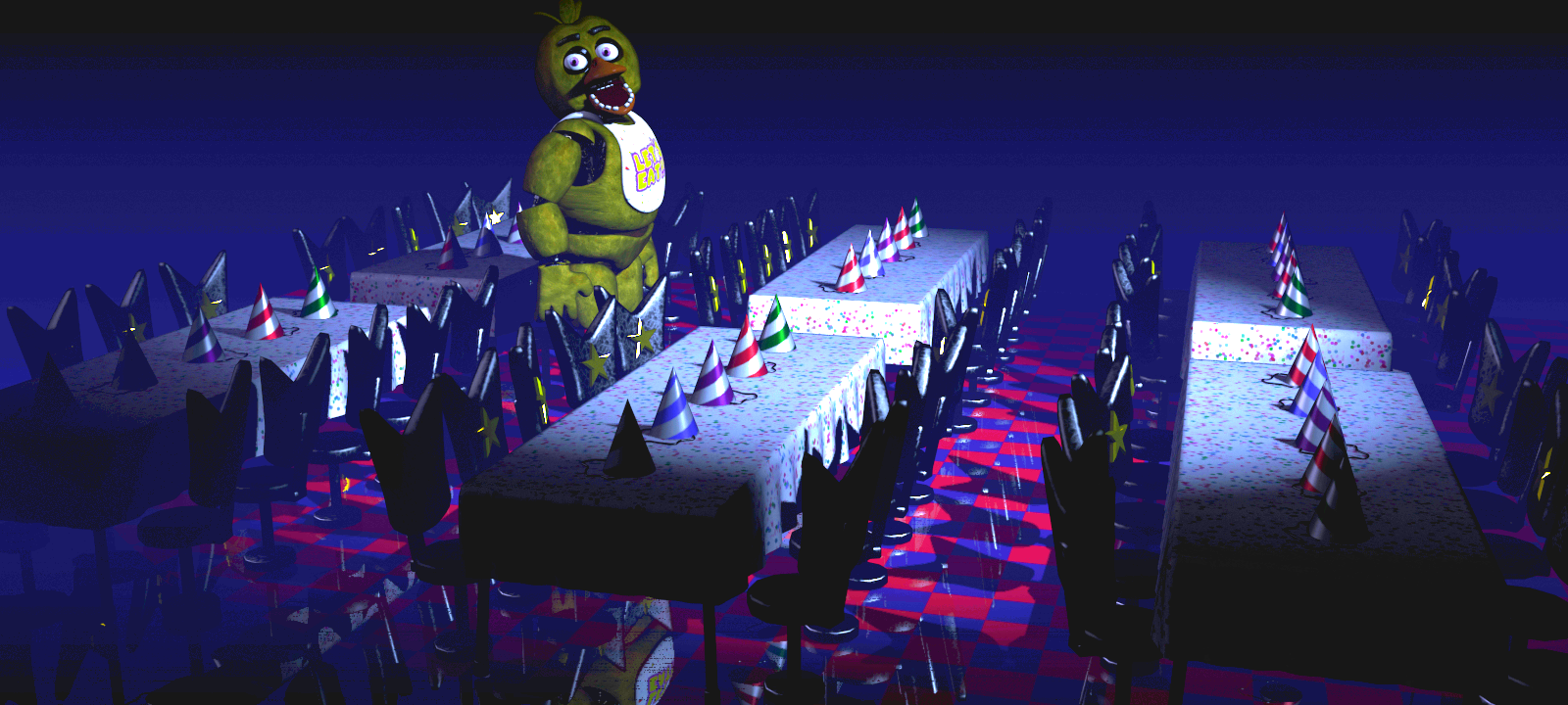 Five Nights at Freddy's 2 - Withered Animatronics [Improved version]
